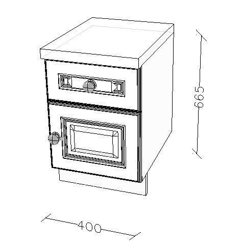 400 Bedside cabinet