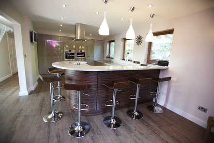 Macassar Veneer Bespoke Fitted Kitchen