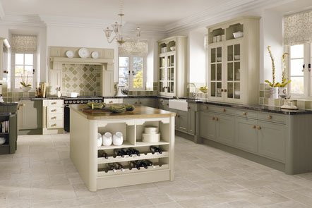 Matt Olive Tullymore Bespoke Fitted Kitchens