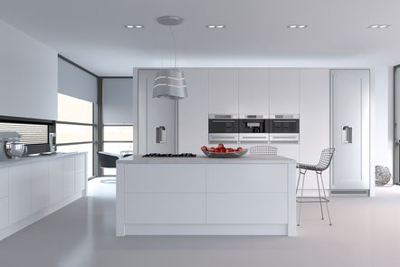 Porcelain White Venice Bespoke Fitted Kitchens