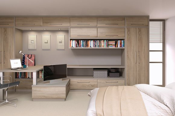 Ashford Sonoma Natural Oak Bespoke Fitted Bedrooms