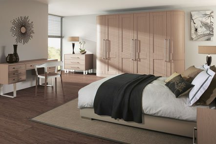 Shaker Swiss Pear Bespoke Fitted Bedrooms