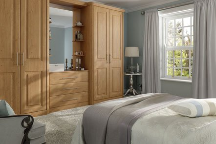 Oxford Pippy Oak Bespoke Fitted Bedrooms