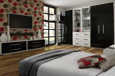 Black And White Bespoke Fitted Bedrooms