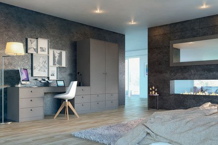 Zurfiz Ultramatt Metallic Basalt Fitted Bedrooms