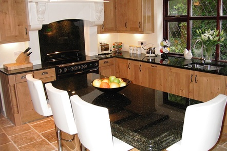 Rustic French with Black Granite