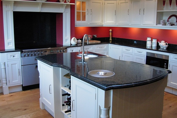 Black Star Galaxy Granite Bespoke Fitted Kitchen