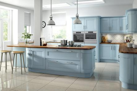 Accent Bluebell Painted Kitchen