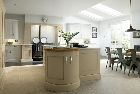 Mowbray Maple Painted Sahara and Lace White | Maple Kitchen