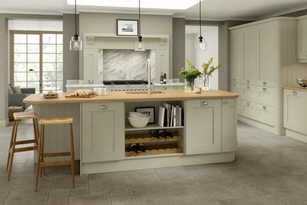 Mowbray Oak - Mussel | Painted Oak Kitchen