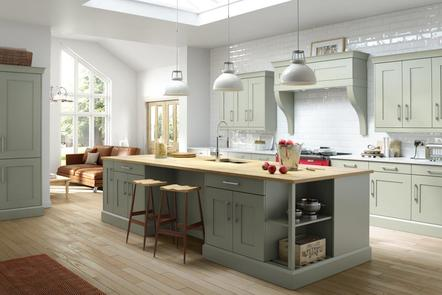 Mowbray Oak Painted English Grey | Contemporary Grey Oak Kitchen