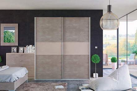 Glidor Light Concrete Cashmere Fitted Sliding Door Wardrobes